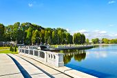 Embankment Of Lake Verhnee (until 1949 Oberteich). Kaliningrad (until 1946 Koenigsberg), Russia