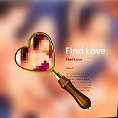 Find love, vector illustration.