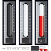 stock photo of gage  - Thermometer Vector Kit - JPG