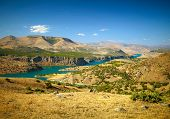 foto of euphrates river  - Canyon of Euphrates River - JPG