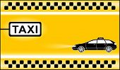 picture of cabs  - yellow modern taxi background with cab stop - JPG