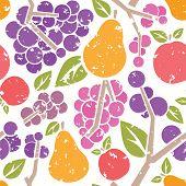 Fruits Retro Seamless Pattern