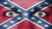 picture of confederate flag  - Close up of eyes - JPG