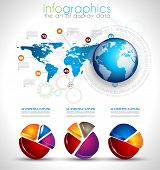 Collection of quality Infographics objects . A lot of different templates ready to display your data