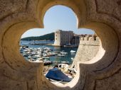 picture of safe haven  - Dubrovnik port old fortress and the old town - JPG