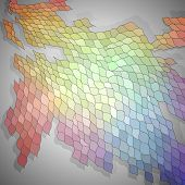 Colorful mosaic background, vector eps8 illustration contains radial gradient.