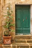 Old door of Tuscany italy
