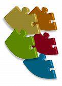 Puzzle  Logo Business Illustration Idea