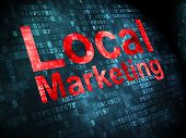 Business concept: Local Marketing on digital background