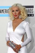 LOS ANGELES - NOV 24:  Christina Aguilera at the 2013 American Music Awards Arrivals at Nokia Theate