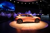 LOS ANGELES, CA - NOVEMBER 20: An Infiniti Q30 concept car on exhibit at the Los Angeles Auto Show in Los Angeles, CA on November 20, 2013