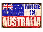 Made In Australia Enamel Sign