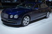LOS ANGELES, CA - NOVEMBER 20: A Bentley Flying Spur on exhibit at the Los Angeles Auto Show in Los