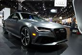 LOS ANGELES, CA - NOVEMBER 20: An Audi RS5 on exhibit at the Los Angeles Auto Show in Los Angeles, C