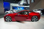 LOS ANGELES, CA - NOVEMBER 20: A Lexus LF-LC hybrid concept car on exhibit at the Los Angeles Auto S