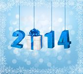 Happy new year 2014! New year design template. Raster version