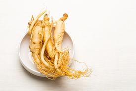 image of ginseng  - Fresh Ginseng sticks - JPG