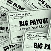 Big Payout Words Checks Money Earnings Salary Winnings