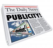 Publicity Word Newspaper Headline Buzz Attention