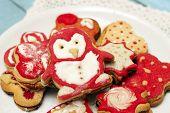 Penguin shaped homemade cookies
