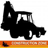 An image of a backhoe loader construction vehicle.