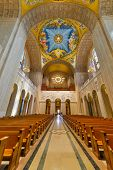 WASHINGTON, DC - APRIL 20, 2014: Interior details of Basilica of the National Shrine of the immacula