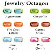 Jewelry Octagon Isolated Objects