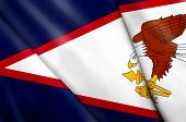 foto of samoa  - This is an illustration of folded flag of American Samoa - JPG