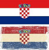 Croatian grunge flag. Vector illustration.