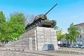 T34 Tank -- A Monument To The Heroes Of The Great Patriotic War.  Russia. Orel.