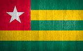 Togo Flag On Wood Background