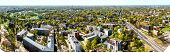 Pardaugava. Panoramic View Of Riga City Neighbourhood. Latvia