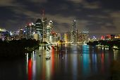 Night skyline of Brisbane, Australia