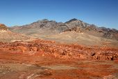 foto of valley fire  - Desert landscape in the Valley of Fire State Park in Nevada in the USA - JPG