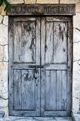 Old Colonial Doors Of Mexican Hacienda