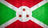 Burundi Flag On Wood Background