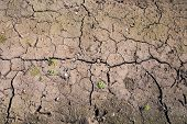 Texture Background Dry Cracked Brown Soil