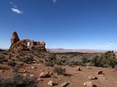 image of turret arch  - Turret arch at Arches National Park - JPG