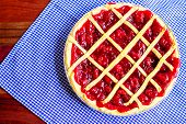 foto of cherry pie  - Fresh from the oven homemade cherry pie - JPG