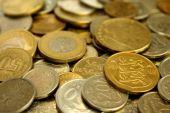 Een stapel van munten Close-up