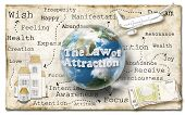 image of laws-of-attraction  - World of Law of Attraction on Old Paper - JPG