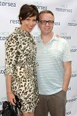 LOS ANGELES - MAY 3:  Sarah Buxton, Michael Maloney at the RESTORSEA Gifting of Skin Care Product at