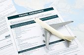 Travel Insurance Form And   Plane Model