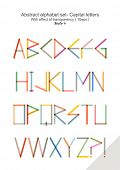 Abstract alphabet set - Capital letters ( 10eps ) style 4