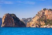 Javea Isla del Descubridor torre Granadella Xabia in Mediterranean Alicante at Spain