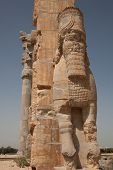 picture of xerxes  - the Xerxes gate of the ancient Achaemenid city of Persepolis in Iran - JPG