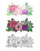 Flowers design element