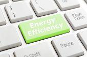 Energy efficiency key on keyboard