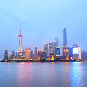 Shanghai (Pudong New Area) at night, China