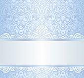 blue vintage invitation floral background